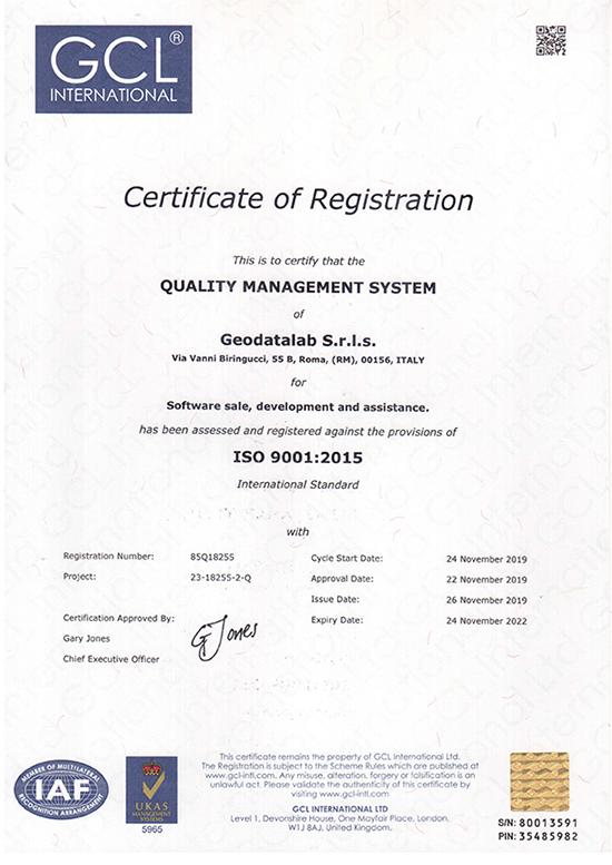 ISO UNI EN 9001 2018